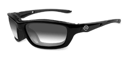 Harley-Davidson® Brick LA Grey Lens w/ Metallic Black Frame Sunglasses HD856