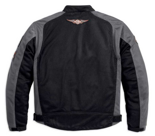 Harley-Davidson® Men's Bar & Shield Logo Mesh Jacket Black 98233-13VM - Wisconsin Harley-Davidson