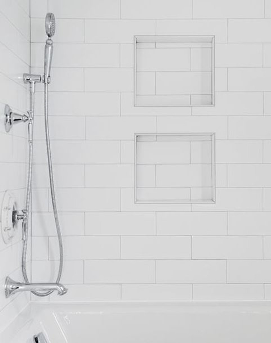 Ice White Matte 4x16 Shower Wall Portland Direct Tile