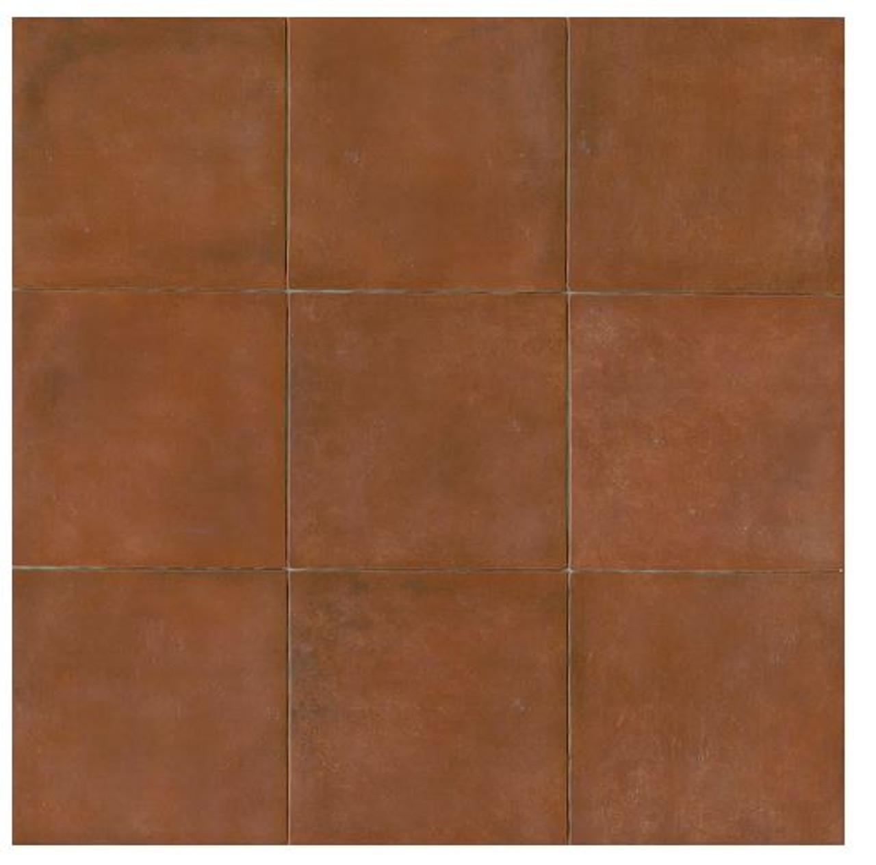 Terra Cotta Porcelain Tile 14x14 Matte Finish Cotto Field