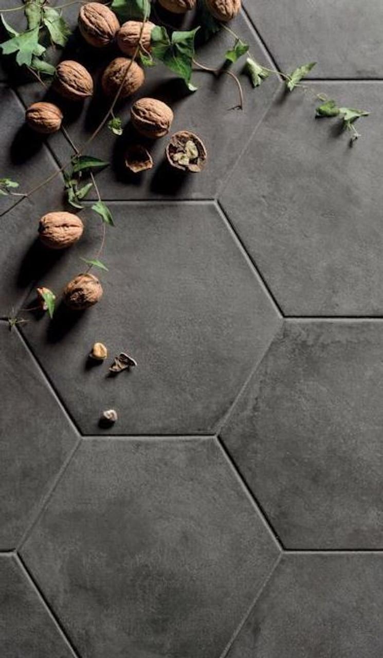 Black Fox Porcelain 8 Quot Hexagon Matte Tile Portland