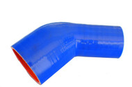 5-ply 45° Blue Silicone Bend Reducer
