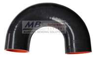 Black 180* Silicone Hose Coupler