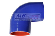 5 Ply Silicone Hose (Coupler) Hi-Performance Blue 90* Elbow