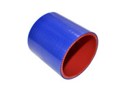 """5-ply Hi-Performance Straight Blue Silicone Hose Coupler 3"""" long"""