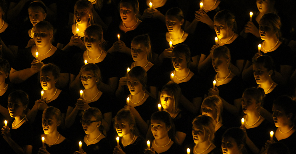 Choir with Safe Flame Candlelight Service Candles