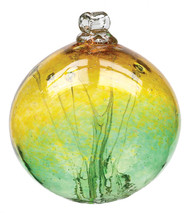 "6"" Witch Ball - Gold / Green"