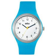 Braun - Men's BN-111-WHBLG Sports Watch, White dial, Blue Silicon Band
