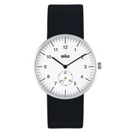 Braun - Men's BN-24WHBKG Analog, White dial, Black band