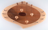 Swedish Door Harp, 4 String, Maple & Cherry