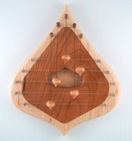 5 String Door Harp, Maple & Cherry, by Moon Mountain Woods