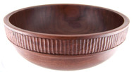 Walnut Salad Bowl, Hand Carved