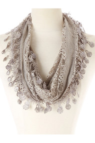 Lace Infinity Scarf (SP64D)