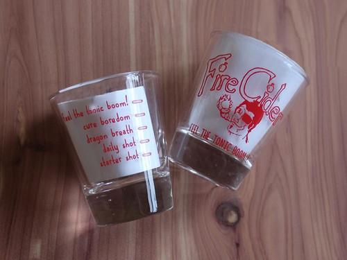 Fire Cider Shot Glass
