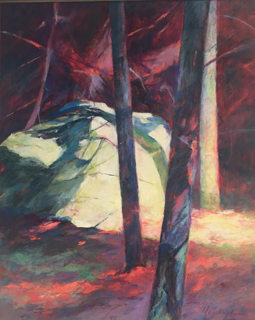 'Bright Rock II' by Artist Peggy Richard, Acrylic on Canvas