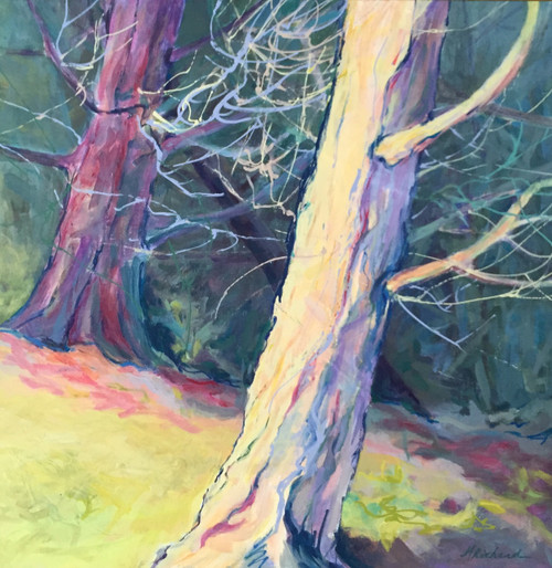 'Lean In' by Artist Peggy Richard, Acrylic on Canvas