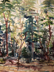"'Little Forest' by Artist Clara Dennison, Watercolor, 11"" x 14"""