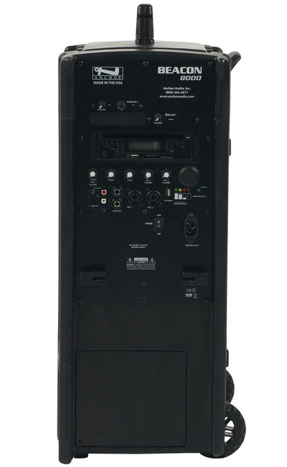 Anchor Audio Beacon Line Array Speaker with CD/MP3 Combo Player & One Wireless Receiver, BEA-8000CU1