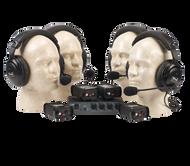 Anchor Audio PortaCom Wired Intercom Package - 4 Users, No Cables, COM-40FC
