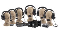 Anchor Audio PortaCom Wired Intercom Package - 6 Users, No Cables, COM-60FC
