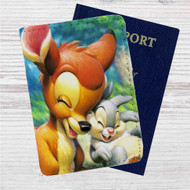 Disney Bambi and Thumper Custom Leather Passport Wallet Case Cover