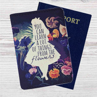 Alice in Wonderland Quotes Custom Leather Passport Wallet Case Cover