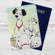 101 Dalmatians Disney Custom Leather Passport Wallet Case Cover