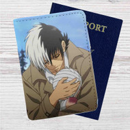Young Black Jack Custom Leather Passport Wallet Case Cover