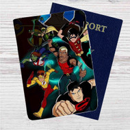 The Team Young Justice Custom Leather Passport Wallet Case Cover