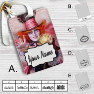 Alice Through the Looking Glass Custom Leather Luggage Tag