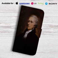 Alexander Hamilton Custom Leather Wallet iPhone 4/4S 5S/C 6/6S Plus 7| Samsung Galaxy S4 S5 S6 S7 Note 3 4 5| LG G2 G3 G4| Motorola Moto X X2 Nexus 6| Sony Z3 Z4 Mini| HTC ONE X M7 M8 M9 Case