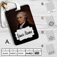Alexander Hamilton Custom Leather Luggage Tag
