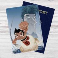 Astro Boy Custom Leather Passport Wallet Case Cover