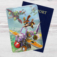 Banjo-Kazooie Nuts and Bolts Custom Leather Passport Wallet Case Cover