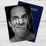 Anthony Kiedis Red Hot Chili Peppers Custom Leather Passport Wallet Case Cover