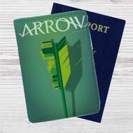 Arrow Custom Leather Passport Wallet Case Cover