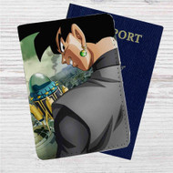 Black Goku Dragon Ball Super Custom Leather Passport Wallet Case Cover