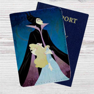 Maleficent and Princess Aurora Disney Custom Leather Passport Wallet Case Cover