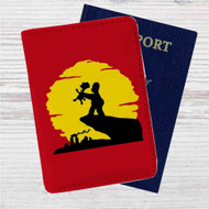 The Simpsons The Lion King Custom Leather Passport Wallet Case Cover