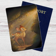 Bambi in The Light Custom Leather Passport Wallet Case Cover
