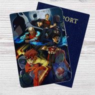 Young Justice Superhero Custom Leather Passport Wallet Case Cover