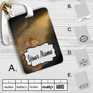 Bambi in The Light Custom Leather Luggage Tag