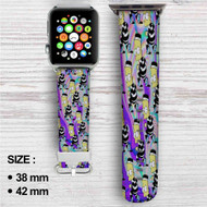 Bart Simpsons Custom Apple Watch Band Leather Strap Wrist Band Replacement 38mm 42mm