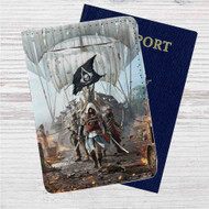 Assassin's Creed IV Black Flag Custom Leather Passport Wallet Case Cover