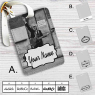 Angus Young of ACDC Custom Leather Luggage Tag