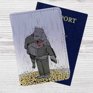 Asriel and Chara Undertale Custom Leather Passport Wallet Case Cover