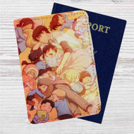 Attack on Titan Levi and Child Custom Leather Passport Wallet Case Cover