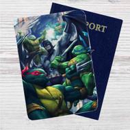 Batman and Teenage Mutant Ninja Turtles Custom Leather Passport Wallet Case Cover