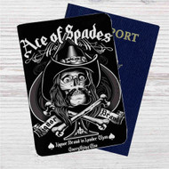 Ace of Spades Custom Leather Passport Wallet Case Cover