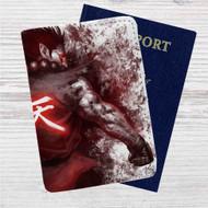Akuma Street Fighter Custom Leather Passport Wallet Case Cover